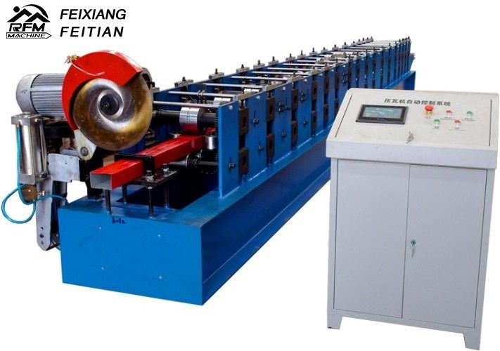High Speed Downspout Roll Forming Machine PLC Control Half Round Gutter Machine
