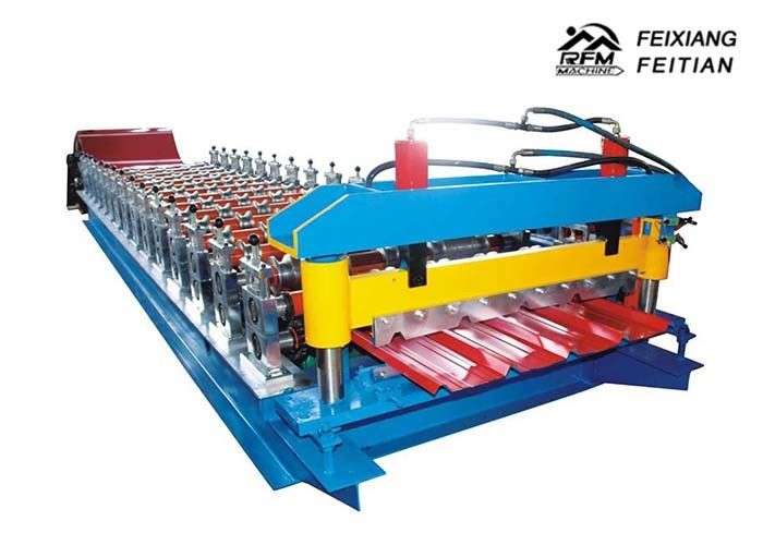 High Precision Galvanized Color Steel Roll Forming Machine 12 Month Warranty